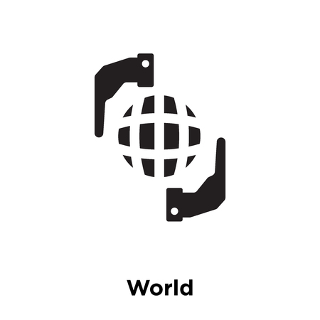 World icon vector isolated on white background, logo concept of World sign on transparent background, filled black symbol