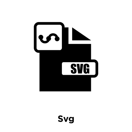 Svg icon vector isolated on white background, logo concept of Svg sign on transparent background, filled black symbol Illustration