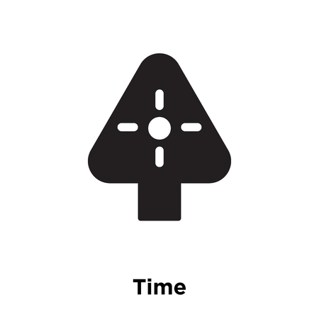 Time icon vector isolated on white background, logo concept of Time sign on transparent background, filled black symbol Vectores