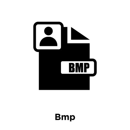 Bmp icon vector isolated on white background, logo concept of Bmp sign on transparent background, filled black symbol Illustration