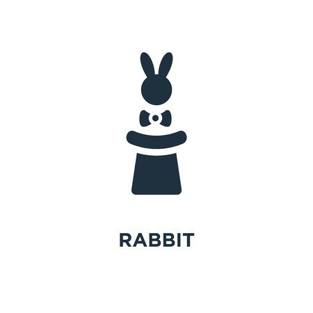 Rabbit icon. Black filled vector illustration. Rabbit symbol on white background. Can be used in web and mobile. Illustration