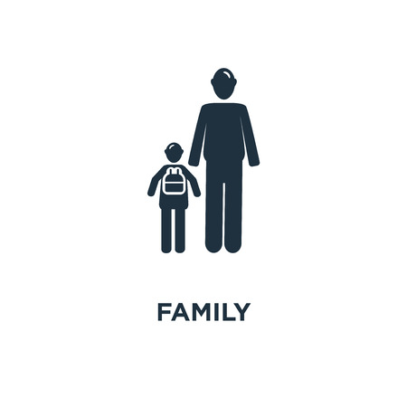 Family icon. Black filled vector illustration. Family symbol on white background. Can be used in web and mobile.