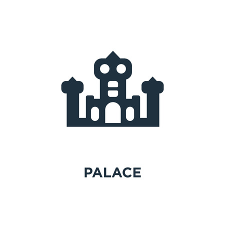 Palace icon. Black filled vector illustration. Palace symbol on white background. Can be used in web and mobile. Illustration