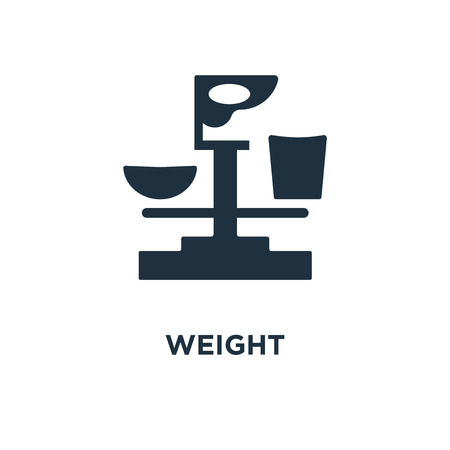 Weight icon. Black filled vector illustration. Weight symbol on white background. Can be used in web and mobile.