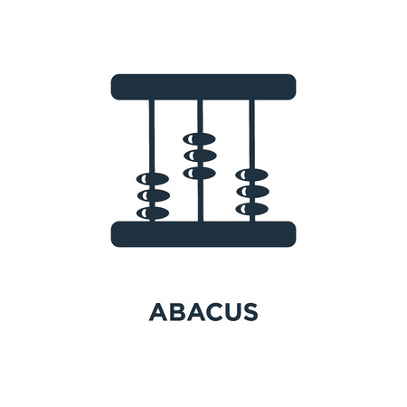 Abacus icon. Black filled vector illustration. Abacus symbol on white background. Can be used in web and mobile.