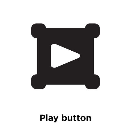 Vector icono de botón de reproducción aislado sobre fondo blanco, el concepto de logo del botón de reproducción firme sobre fondo transparente, símbolo negro relleno