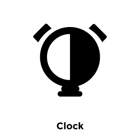 Clock icon vector isolated on white background, logo concept of Clock sign on transparent background, filled black symbol