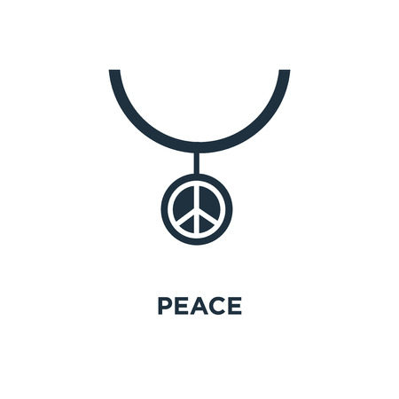 Peace icon. Black filled vector illustration. Peace symbol on white background. Can be used in web and mobile. Stock Illustratie