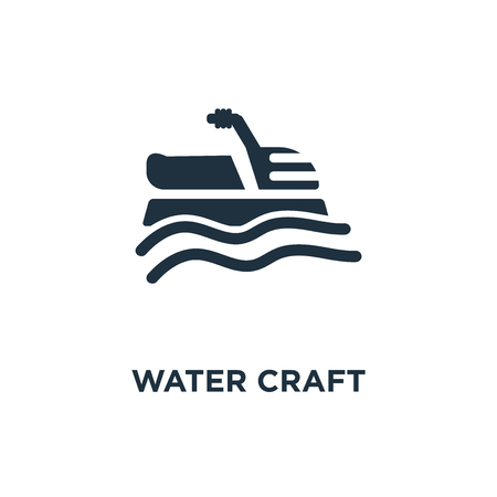 Water craft icon. Black filled vector illustration. Water craft symbol on white background. Can be used in web and mobile. Illustration