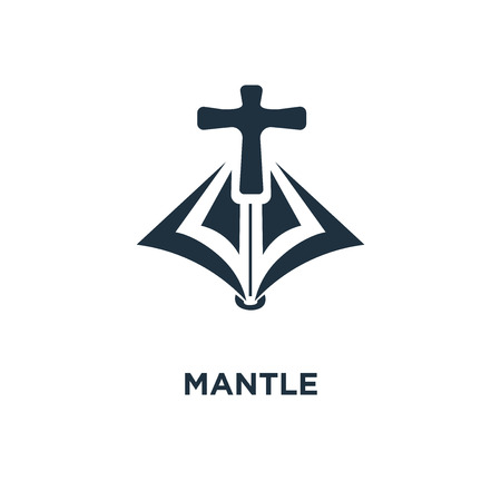 Mantle icon. Black filled vector illustration. Mantle symbol on white background. Can be used in web and mobile.