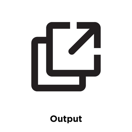 Output icon vector isolated on white background, logo concept of Output sign on transparent background, filled black symbol Ilustração