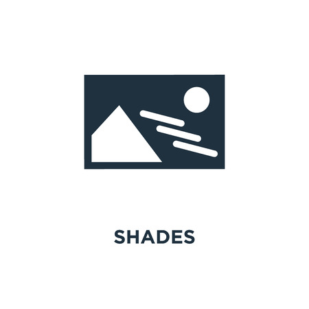 Shades icon. Black filled vector illustration. Shades symbol on white background. Can be used in web and mobile.