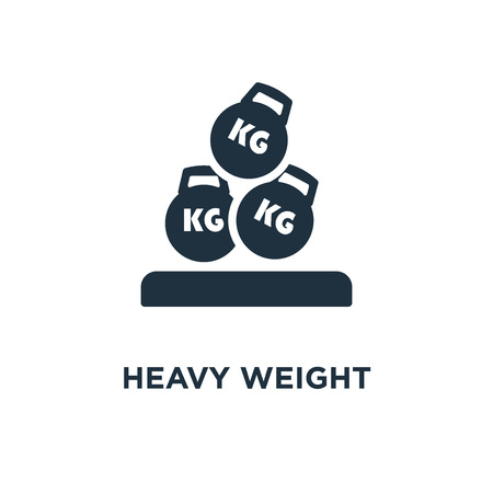 Heavy Weight icon. Black filled vector illustration. Heavy Weight symbol on white background. Can be used in web and mobile.
