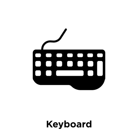 Keyboard icon vector isolated on white background, logo concept of Keyboard sign on transparent background, filled black symbol Ilustração