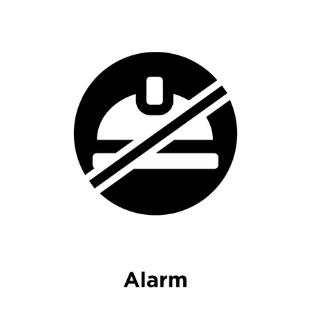 Alarm icon vector isolated on white background, logo concept of Alarm sign on transparent background, filled black symbol