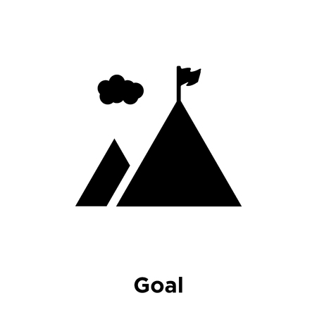 Goal icon vector isolated on white background, logo concept of Goal sign on transparent background, filled black symbol