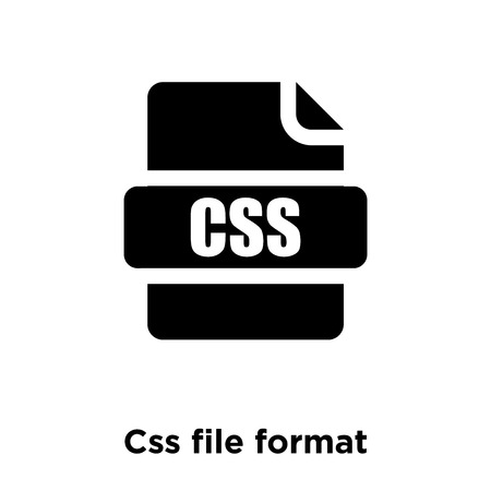Css file format icon vector isolated on white background, logo concept of Css file format sign on transparent background, filled black symbol Illustration
