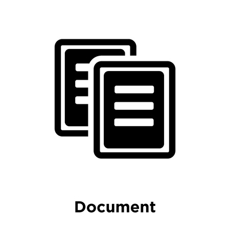 Document icon vector isolated on white background, logo concept of Document sign on transparent background, filled black symbol