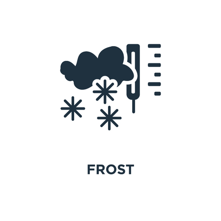 Frost icon. Black filled vector illustration. Frost symbol on white background. Can be used in web and mobile.