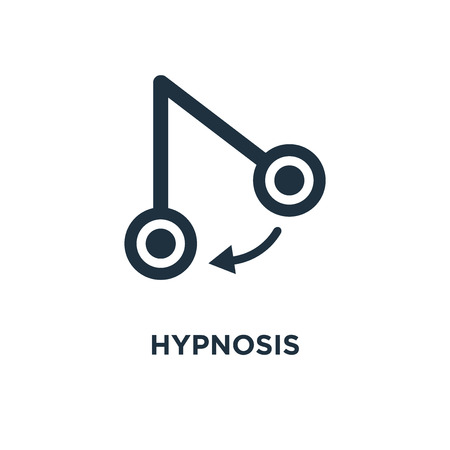 Hypnosis icon. Black filled vector illustration. Hypnosis symbol on white background. Can be used in web and mobile.