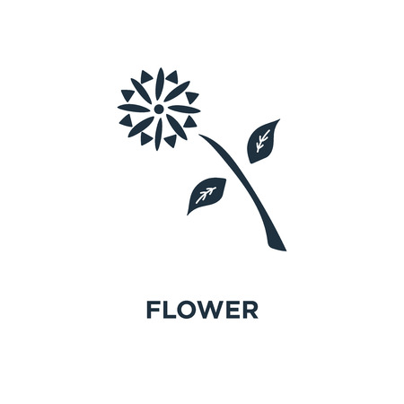 Flower icon. Black filled vector illustration. Flower symbol on white background. Can be used in web and mobile.