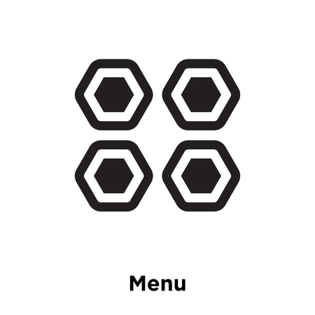 Menu icon vector isolated on white background, logo concept of Menu sign on transparent background, filled black symbol Banque d'images - 112746010