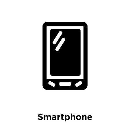 Smartphone icon vector isolated on white background, logo concept of Smartphone sign on transparent background, filled black symbol