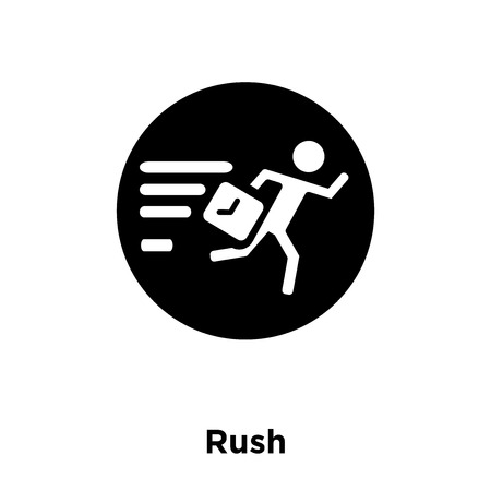 Rush icon vector isolated on white background, logo concept of Rush sign on transparent background, filled black symbol