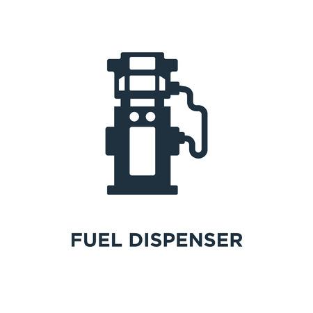 Fuel dispenser icon. Black filled vector illustration. Fuel dispenser symbol on white background. Can be used in web and mobile. Illustration