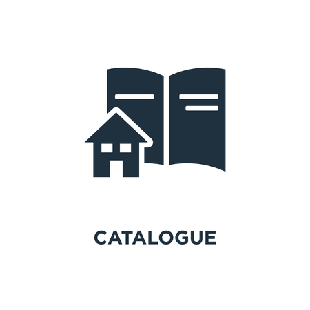 Catalogue icon. Black filled vector illustration. Catalogue symbol on white background. Can be used in web and mobile. Ilustrace