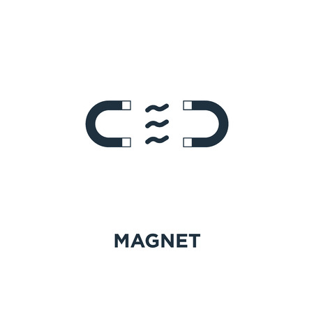 Magnet icon. Black filled vector illustration. Magnet symbol on white background. Can be used in web and mobile.