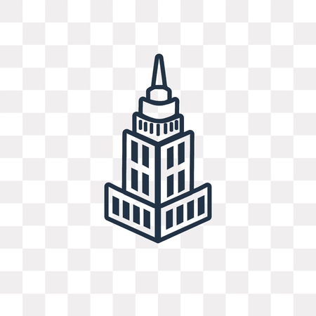 State Building vector outline icon isolated on transparent background, high quality linear State Building transparency concept can be used web and mobile