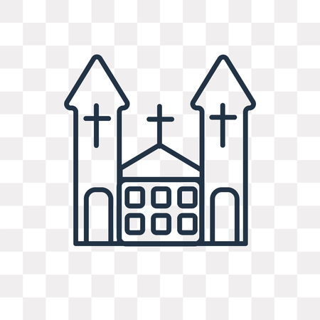 Chuch vector outline icon isolated on transparent background, high quality linear Chuch transparency concept can be used web and mobile