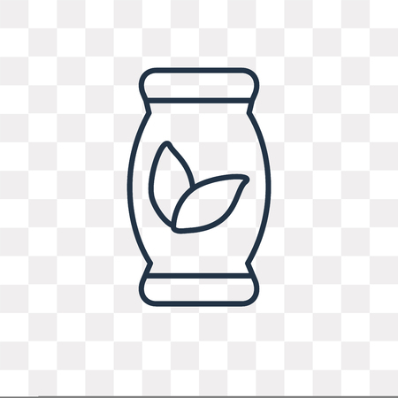 Fertilizer vector outline icon isolated on transparent background, high quality linear Fertilizer transparency concept can be used web and mobile Illustration