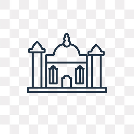Gurdwara vector outline icon isolated on transparent background, high quality linear Gurdwara transparency concept can be used web and mobile