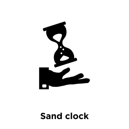 Sand clock icon vector isolated on white background, logo concept of Sand clock sign on transparent background, filled black symbol 일러스트