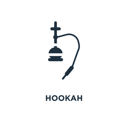 Hookah icon. Black filled vector illustration. Hookah symbol on white background. Can be used in web and mobile. Stock Vector - 112842902