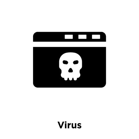 Virus icon vector isolated on white background, logo concept of Virus sign on transparent background, filled black symbol