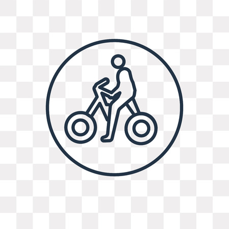 Bicycle vector outline icon isolated on transparent background, high quality linear Bicycle transparency concept can be used web and mobile
