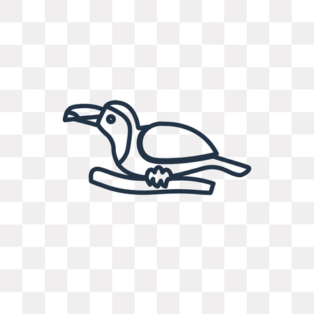 Toucan vector outline icon isolated on transparent background, high quality linear Toucan transparency concept can be used web and mobile Illustration