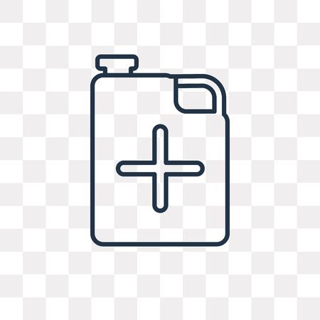 Jerrycan vector outline icon isolated on transparent background, high quality linear Jerrycan transparency concept can be used web and mobile Ilustração