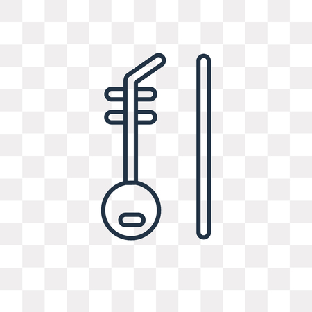 Erhu vector outline icon isolated on transparent background, high quality linear Erhu transparency concept can be used web and mobile