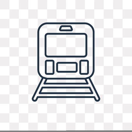 Train vector outline icon isolated on transparent background, high quality linear Train transparency concept can be used web and mobile Illustration