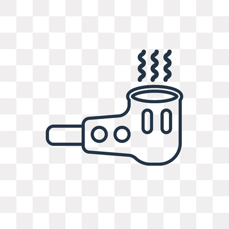 Smoking pipe vector outline icon isolated on transparent background, high quality linear Smoking pipe transparency concept can be used web and mobile
