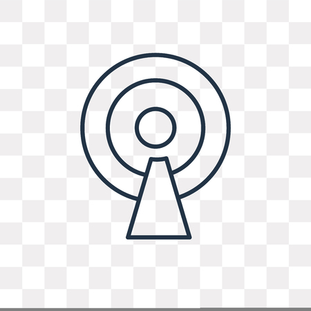 Antenna vector outline icon isolated on transparent background, high quality linear Antenna transparency concept can be used web and mobile