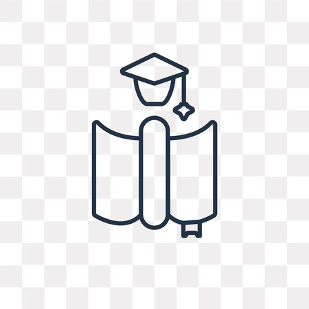 Thesis vector outline icon isolated on transparent background, high quality linear Thesis transparency concept can be used web and mobile