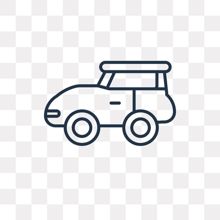 Car vector outline icon isolated on transparent background, high quality linear Car transparency concept can be used web and mobile Vettoriali