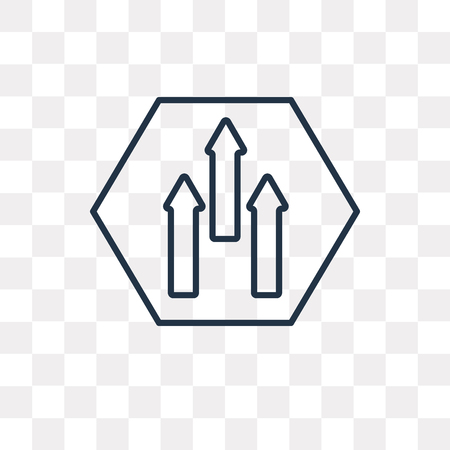 Ahead vector outline icon isolated on transparent background, high quality linear Ahead transparency concept can be used web and mobile Vectores