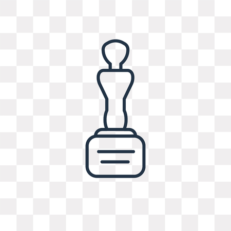 Movie Award vector outline icon isolated on transparent background, high quality linear Movie Award transparency concept can be used web and mobile Illustration