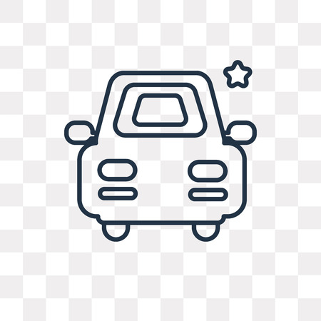 Clean car vector outline icon isolated on transparent background, high quality linear Clean car transparency concept can be used web and mobile